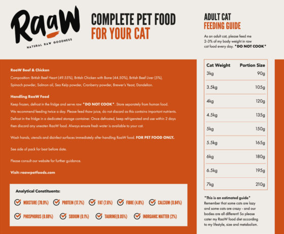 RaaW Beef & Chicken Cat Food