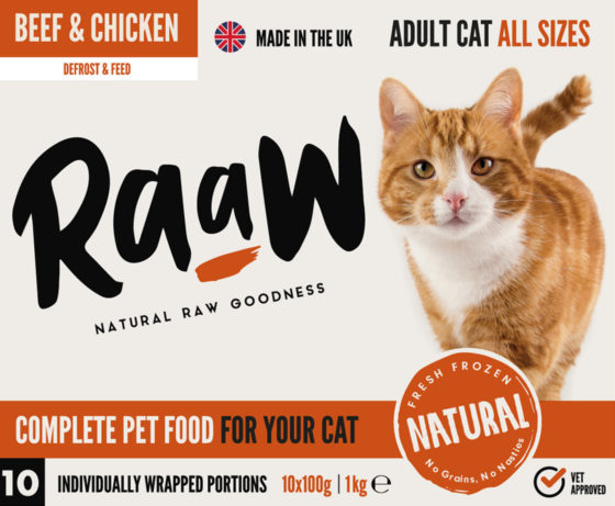 Raaw Beef and Chicken Cat Food